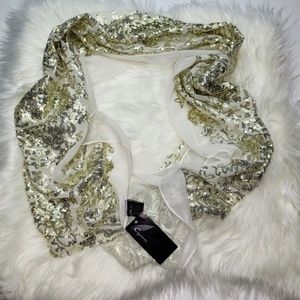 Cejon Gold Sequin Scarf